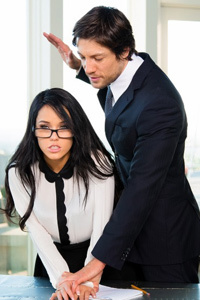 Megan Rain Gets Drilled In The Office